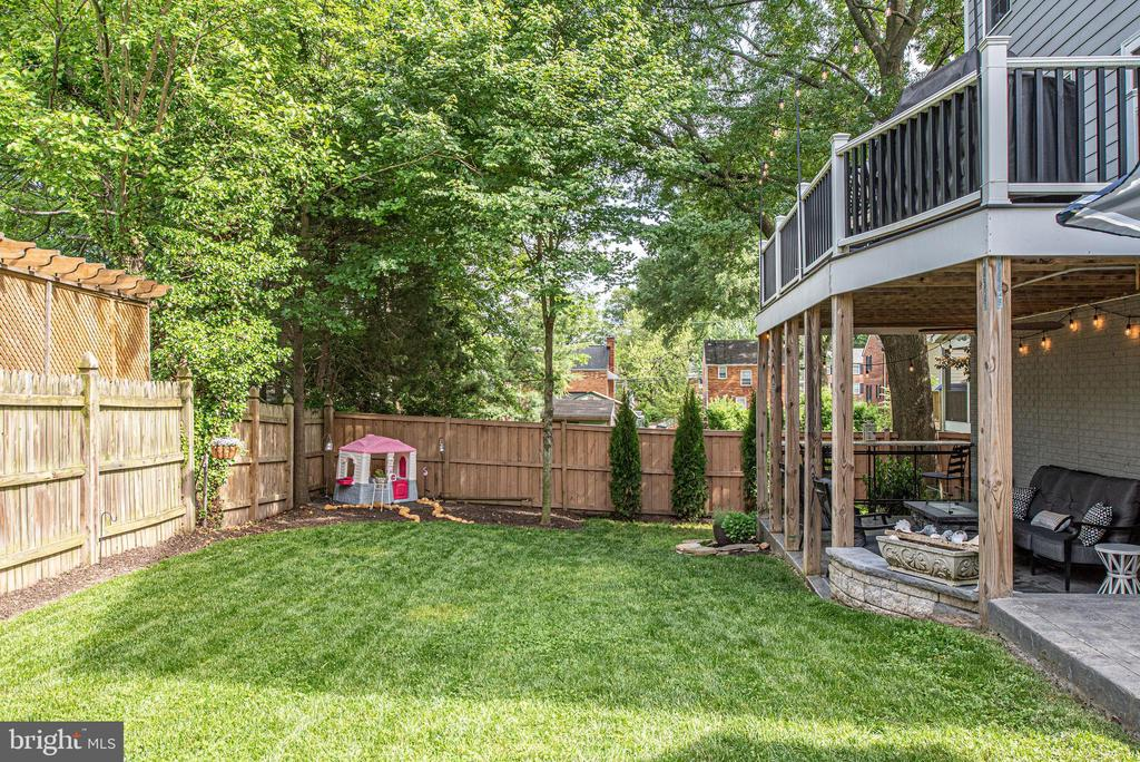 Functional open space for entertaining and play - 409 N FREDERICK ST, ARLINGTON