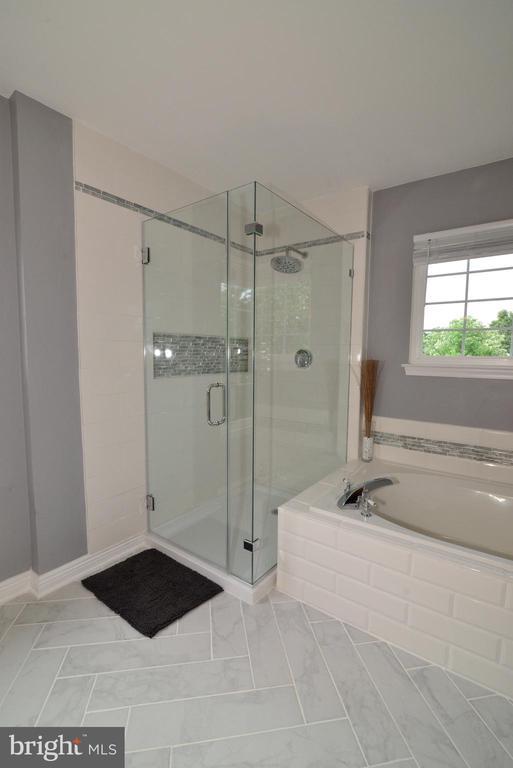 Frame-less glass shower - 21854 KINGS CROSSING TER, ASHBURN