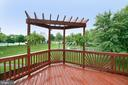 Back Deck - newly stained - 21854 KINGS CROSSING TER, ASHBURN