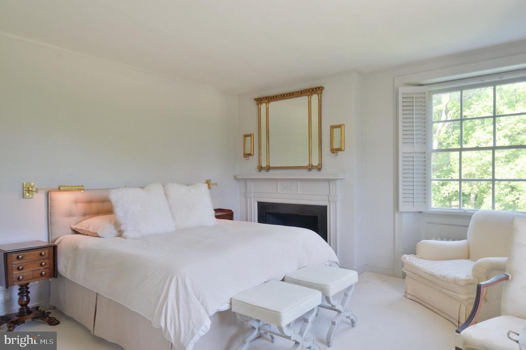 Master bedroom with fireplace - 8362 HOLTZCLAW RD, WARRENTON