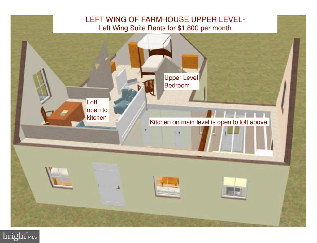 Left Wing Suite Rendering of Upper Level - 13826-13832 CASTLE CLIFF WAY, SILVER SPRING