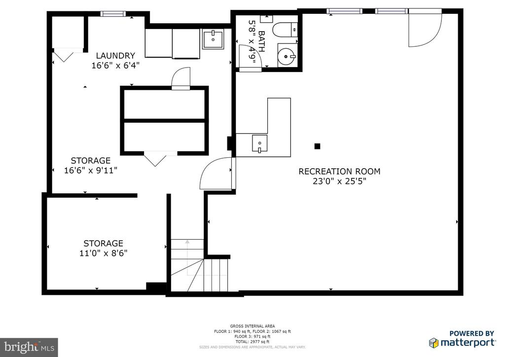 Floor Plan Lower Level - 3331 BITTER SWEET CT, HERNDON