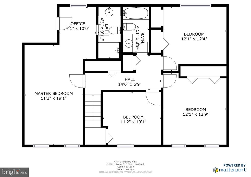 Floor Plan Upper Level - 3331 BITTER SWEET CT, HERNDON