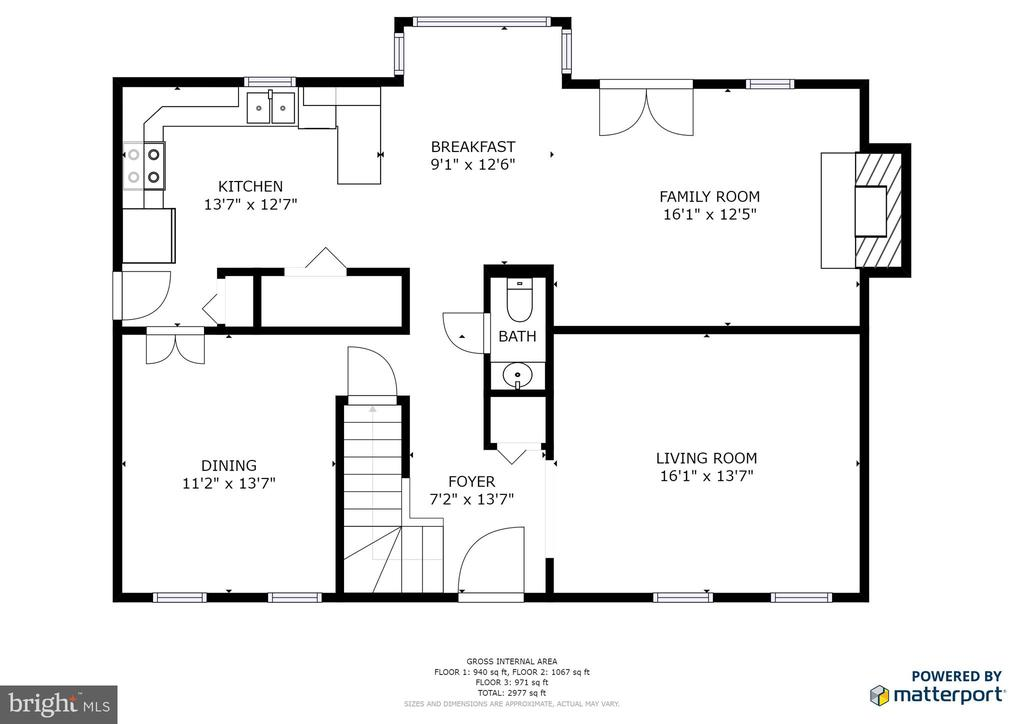 Floor Plan Main Level - 3331 BITTER SWEET CT, HERNDON