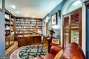 LIBRARY WITH CUSTOM  BUILT IN CABINETRY - 11104 PRINCE EDWARD CT, OAKTON