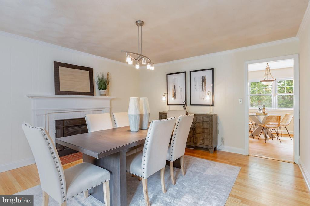 Formal Dining Room with Fireplace - 1206 HIGHLAND DR, SILVER SPRING