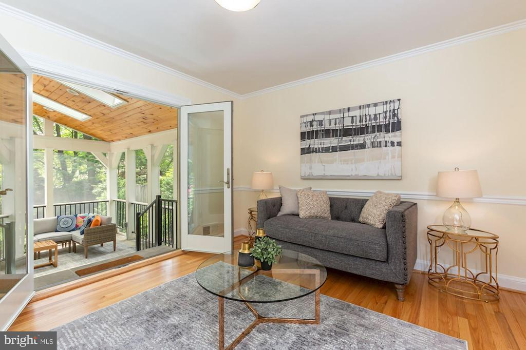 Family Room Leads to Screened Porch - 1206 HIGHLAND DR, SILVER SPRING