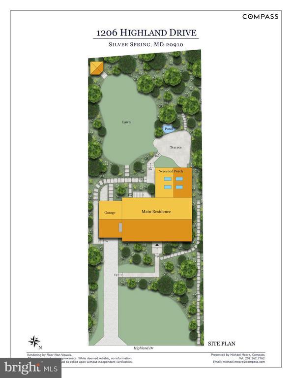 Site Plan - 1206 HIGHLAND DR, SILVER SPRING