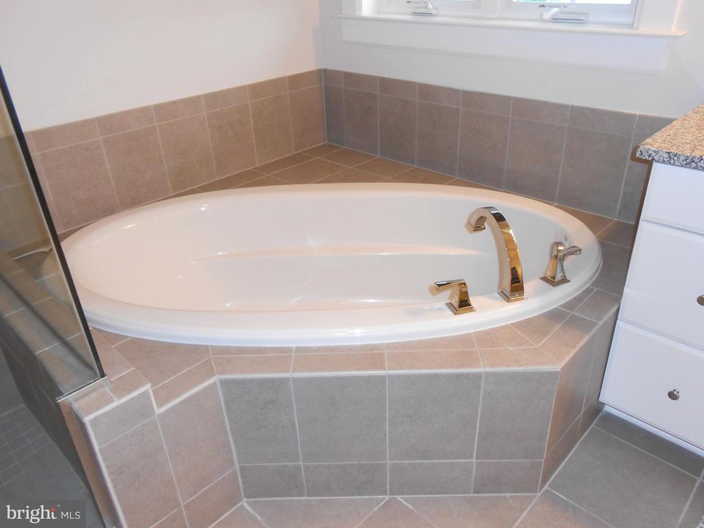 Master Bath - Soaking Tub - 6435 BOB WHITE DRIVE, WARRENTON