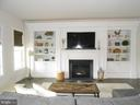 Gas Fireplace with Wood Mantle, Slate hearth - 6435 BOB WHITE DRIVE, WARRENTON