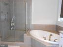 Master Bath - Separate Shower - 6435 BOB WHITE DRIVE, WARRENTON