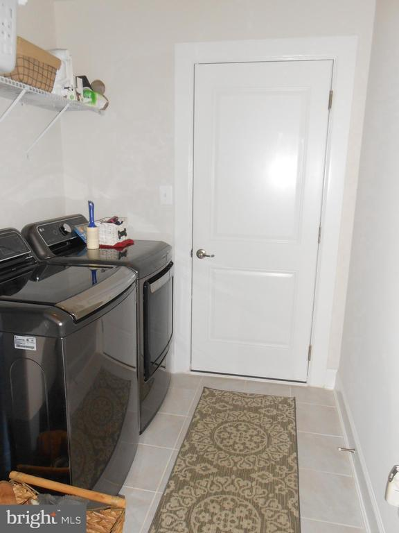 Laundry Room - Tile Floor, Door to garage - 6435 BOB WHITE DRIVE, WARRENTON