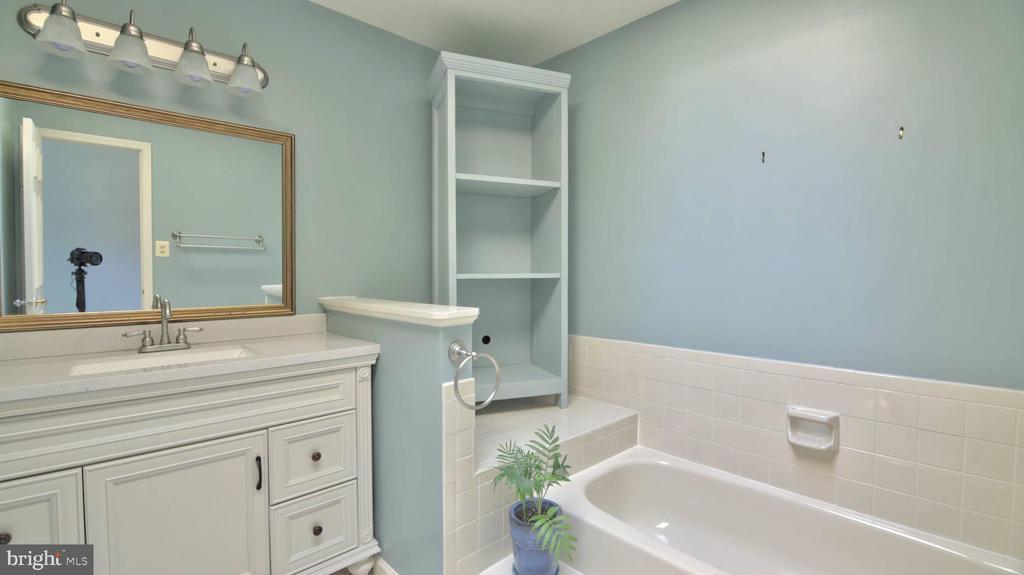 Master Bath, tub and shower - 420 COUNCIL DR NE, VIENNA