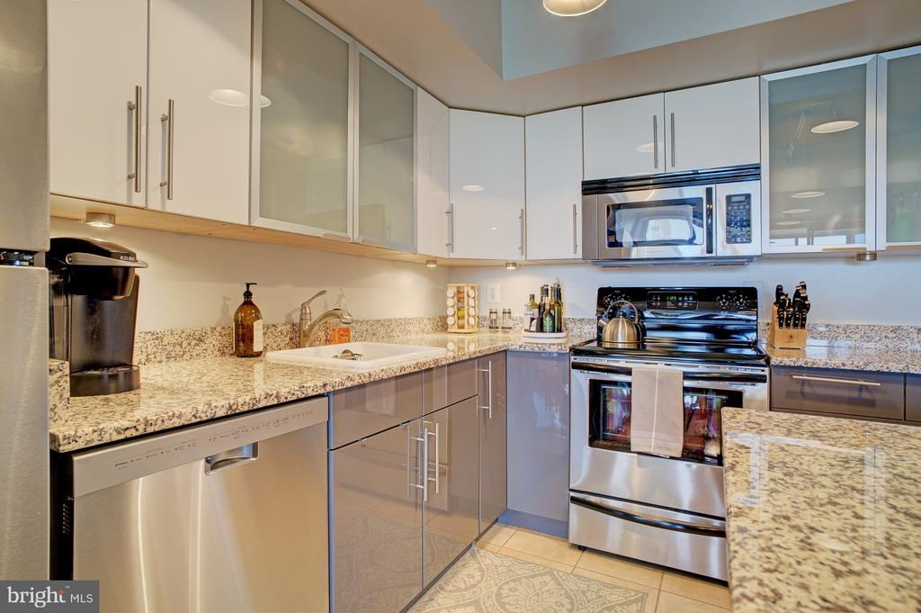 Gleaming appliances and cabinetry - 1001 N RANDOLPH ST #911, ARLINGTON