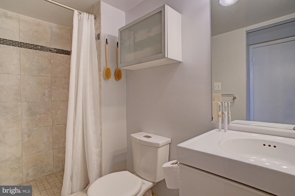 Renovated master bath - 1001 N RANDOLPH ST #911, ARLINGTON