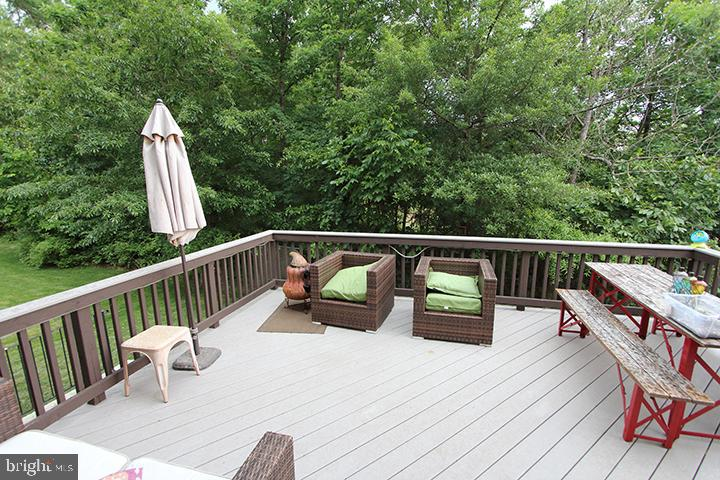 Large deck backing to trees - 21716 MUNDAY HILL PL, BROADLANDS