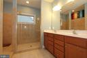 Master bathroom with updated walk in shower - 21716 MUNDAY HILL PL, BROADLANDS