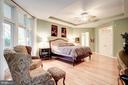 Tray ceiling with ceiling fan - 43705 MAHOGANY RUN CT, LEESBURG