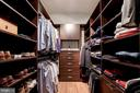 one of two walk in closets w/ custom organization - 43705 MAHOGANY RUN CT, LEESBURG