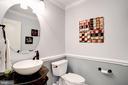 Powder rm -  12x12 floor with glass tile inlay - 43705 MAHOGANY RUN CT, LEESBURG
