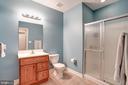 Full bathroom in lower level - 43705 MAHOGANY RUN CT, LEESBURG