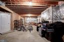 Ample storage space in lower level - 43705 MAHOGANY RUN CT, LEESBURG
