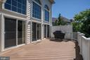 Trex deck off family room. Gas line to grill! - 43705 MAHOGANY RUN CT, LEESBURG