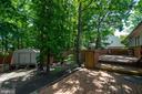 Backyard - 6001 SHERBORN LN, SPRINGFIELD