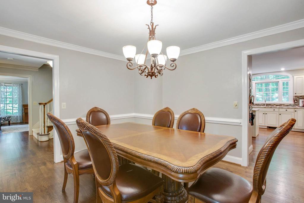 Separate dining room - 9600 TREEMONT LN, SPOTSYLVANIA