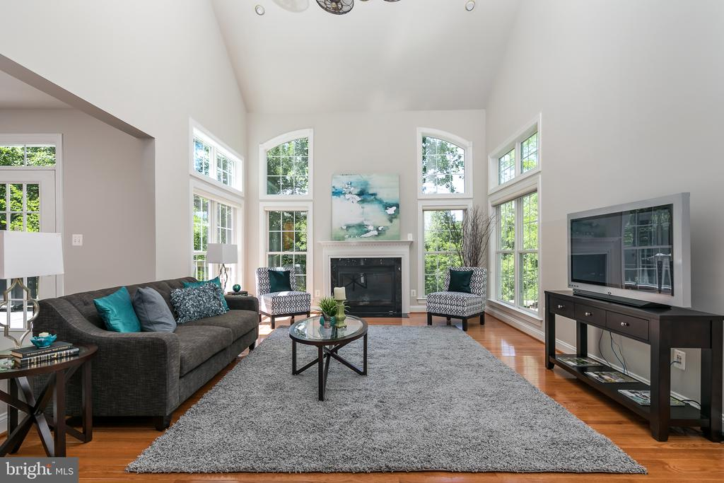Beautiful natural light in your family room - 19030 COTON FARM CT, LEESBURG