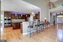 Fully renovated kitchen - 43705 MAHOGANY RUN CT, LEESBURG