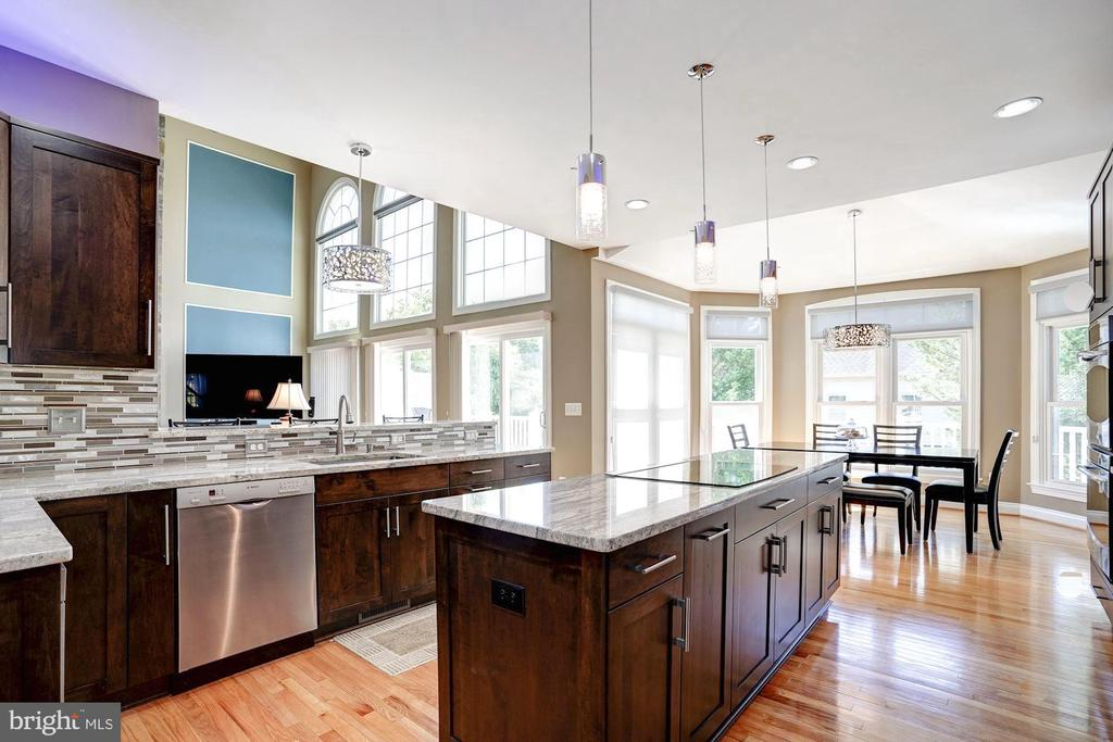 Soft-close cabinets, granite, stainless appliances - 43705 MAHOGANY RUN CT, LEESBURG