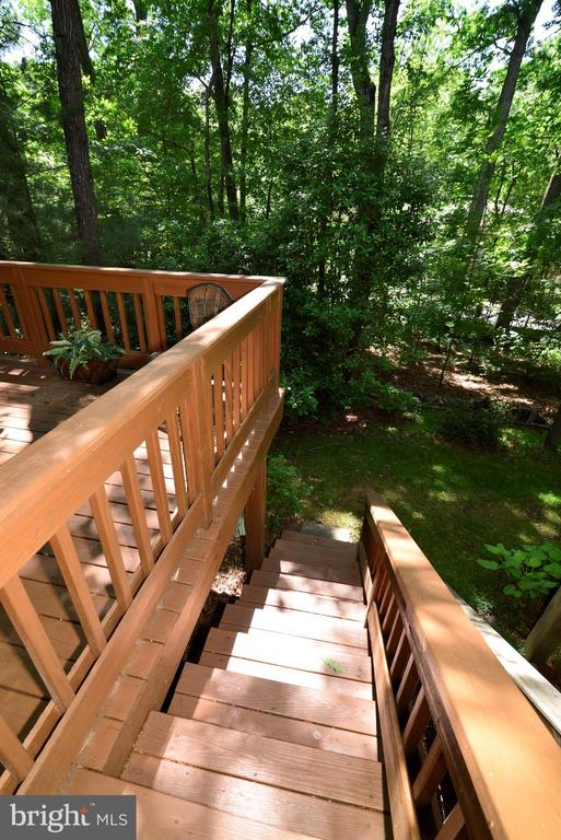 Stairs down from the rear deck - 11296 SILENTWOOD LN, RESTON