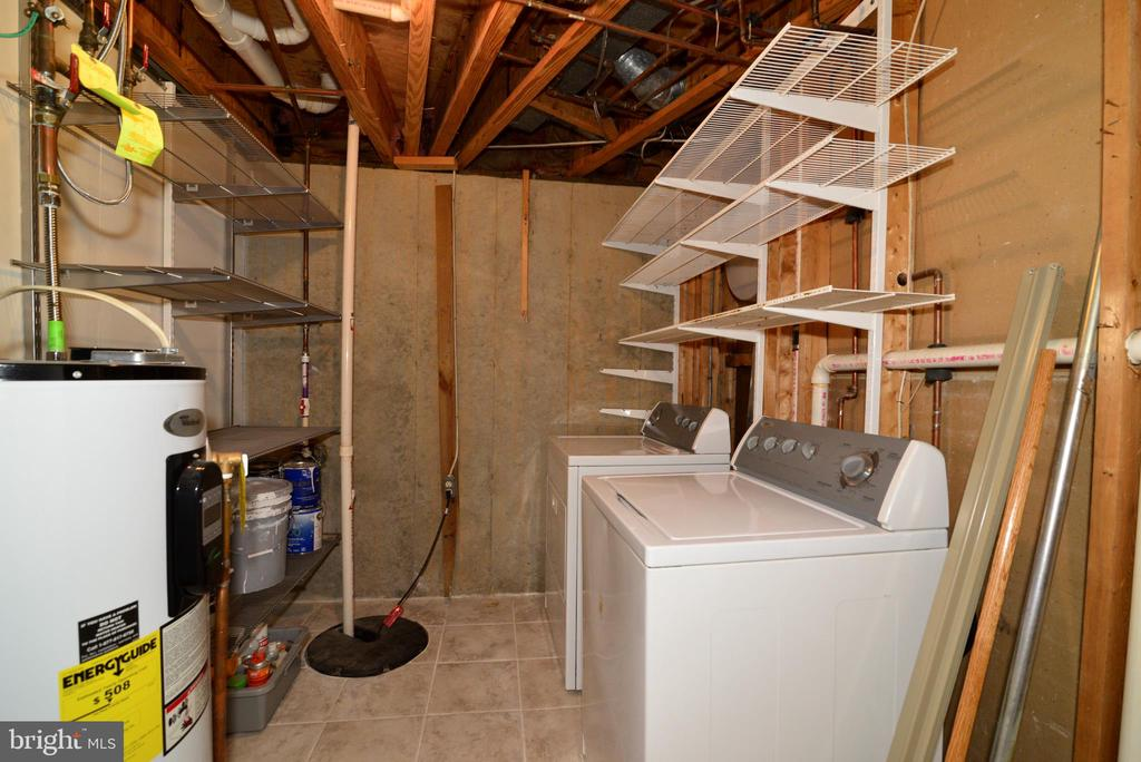 Lower level laundry and storage room - 11296 SILENTWOOD LN, RESTON
