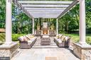 For nippy evenings, enjoy the outdoor fireplace! - 10010 HIGH HILL PL, GREAT FALLS