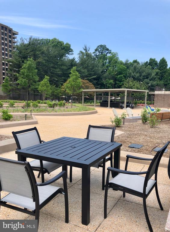 So many options for sitting & enjoying the view - 1800 OLD MEADOW RD #606, MCLEAN