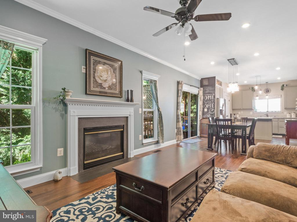 Family Room with Gas Fireplace - 15528 BOAR RUN CT, MANASSAS