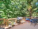 Back Deck backs to heavy trees - 15528 BOAR RUN CT, MANASSAS