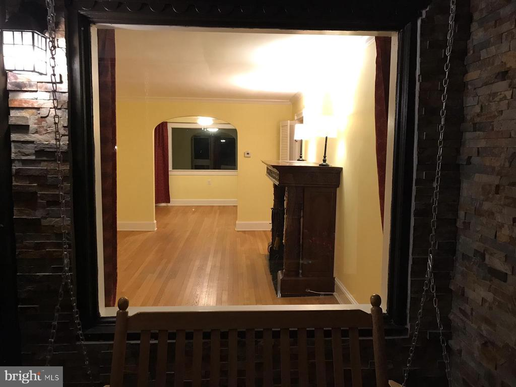 View through the front window - 9103 LOUIS AVE, SILVER SPRING
