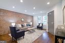 Everyone's favorite - exposed brick wall! - 1412 SHEPHERD ST NW #1, WASHINGTON