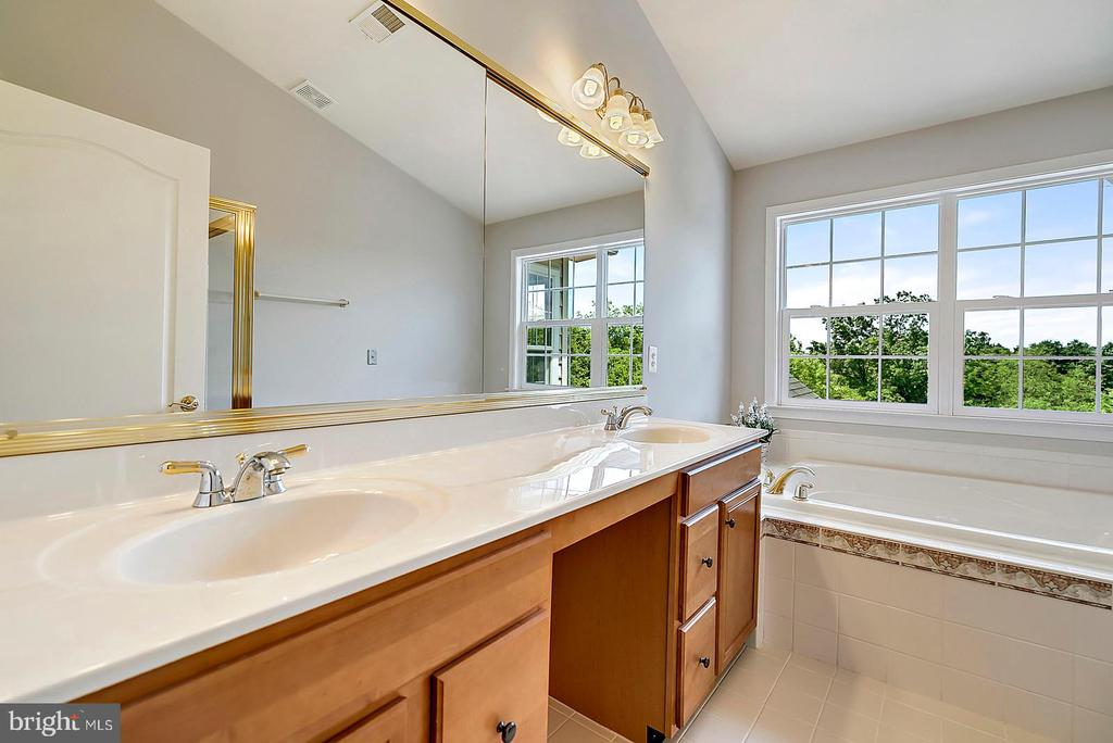 Master Bath with Dual Vanity, Jacuzzi and Shower - 19883 NAPLES LAKES TER, ASHBURN