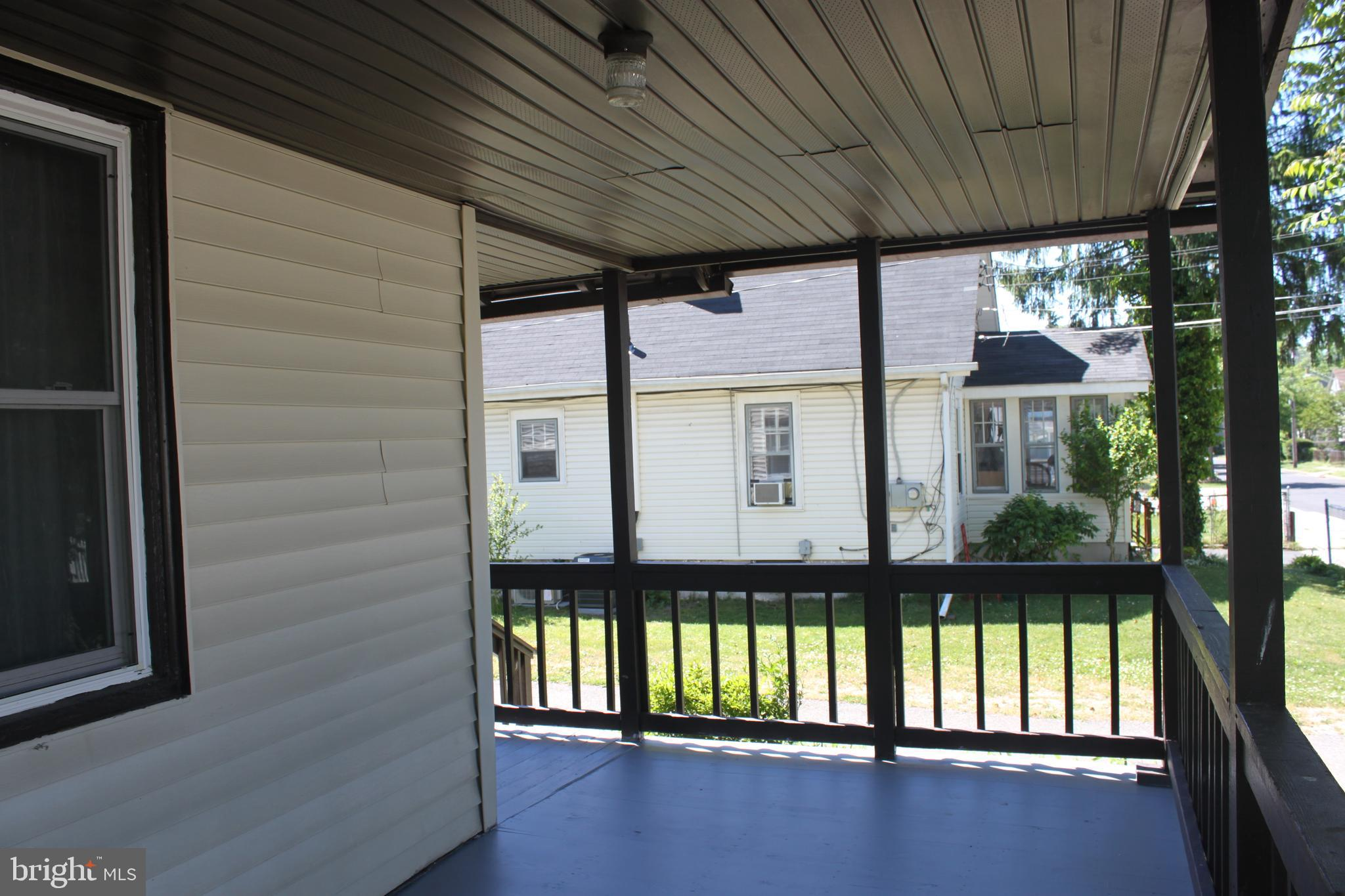 New porch view, look at that space