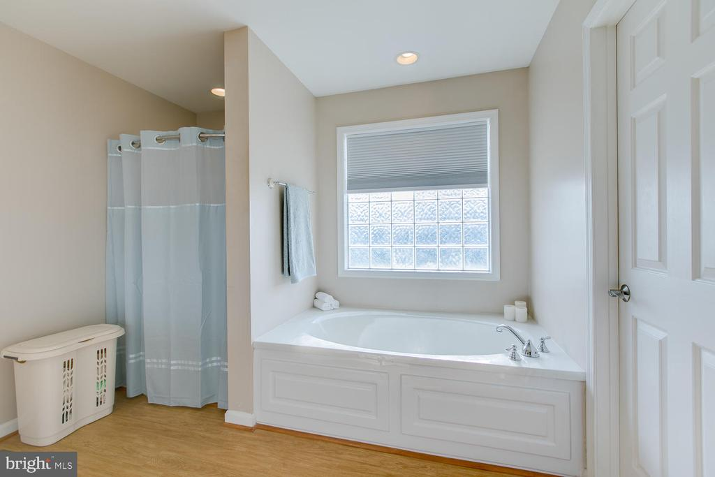 Master bath with separate tub and shower - 9315 PAIGE RD, WOODFORD