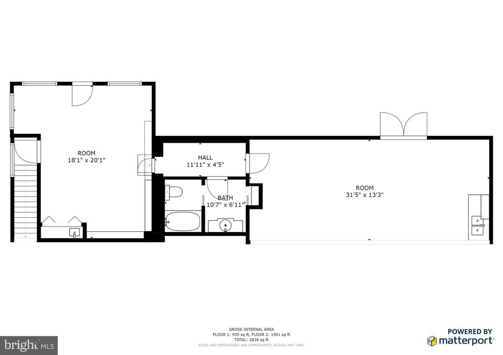 Lower level plan - 122 MADISON CIR, LOCUST GROVE