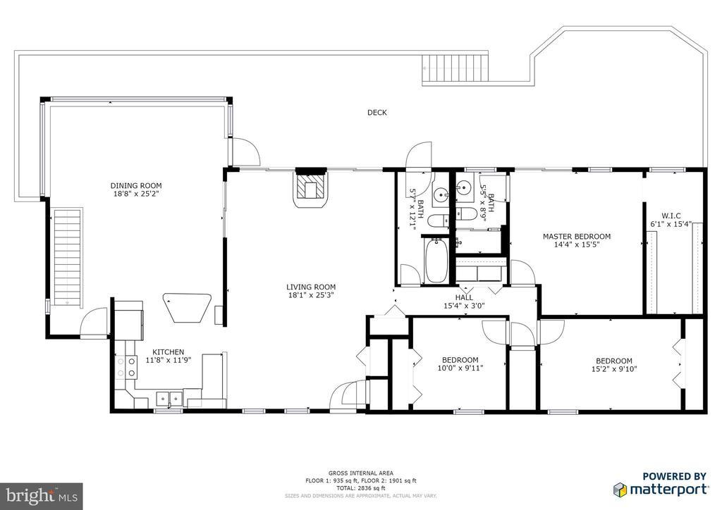 1st floor plan - 122 MADISON CIR, LOCUST GROVE
