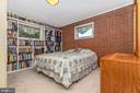 Bedroom  2, real brick!  Main level - 6617 BROWNS QUARRY RD, SABILLASVILLE