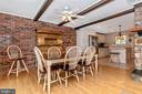 Dining area - 6617 BROWNS QUARRY RD, SABILLASVILLE