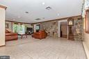 Lower level entry and  family area - 6617 BROWNS QUARRY RD, SABILLASVILLE
