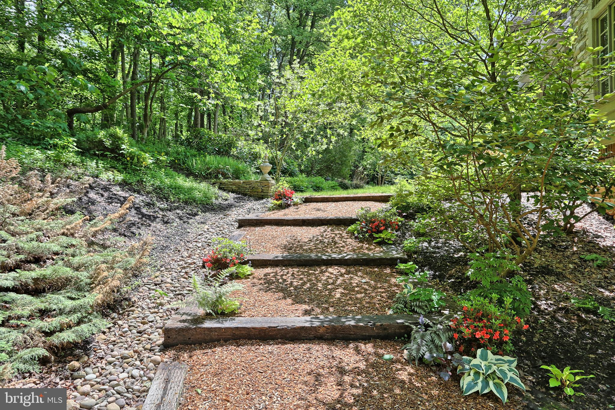 Terraced path to side of home