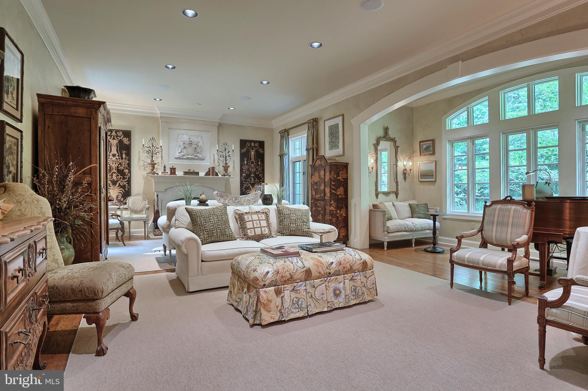 Formal living room & music room
